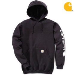 carhartt® Midweight Signature Sleeve Logo Hooded Sweatshirt