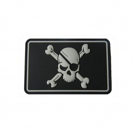 PIRATE SKULL Patch- rubberized