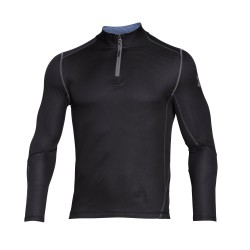 "Under Armor® Stand-up collar shirt 1/4 Zip ""Grid"" Infrared, ColdGear®"