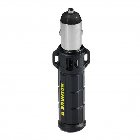 BRUNTON® TORPEDO™ 2600 USB-Powerbank with DC car socket adapter