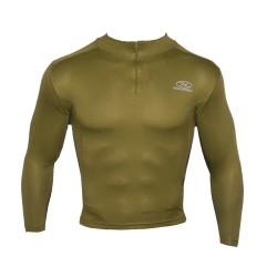 Highlander® 1/4 Zip Stehkragen-Langarmshirt