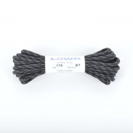 LOWA Schnürsenkel (rund), schwarz/grau