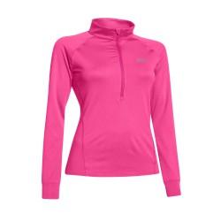 Under Armour® Ladies High Collar Shirt 1/4-Zip AllseasonGear®, loose