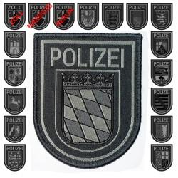 Klettabzeichen Behörden-/Landeswappen, Monochrom - Textil (92 x 75 mm)