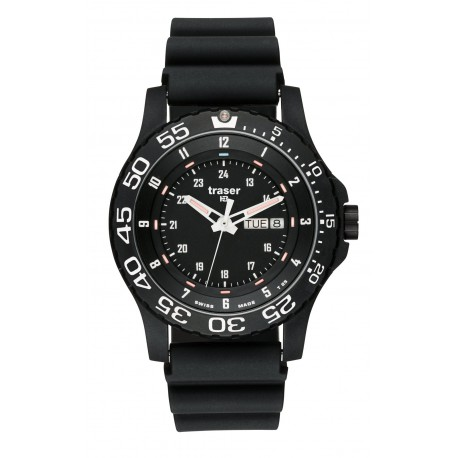 "traser® H3 Armbanduhr ""P6600 Elite Red"" mit Tag/Datum, ø 45mm"