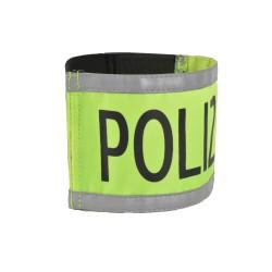 """Armbinde bedruckt """"POLIZEI"""" mit Reflexstreifen"""