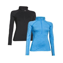 "Under Armour® Ladies stand-up collar shirt ""Cozy 1/2 Zip"" ColdGear®"
