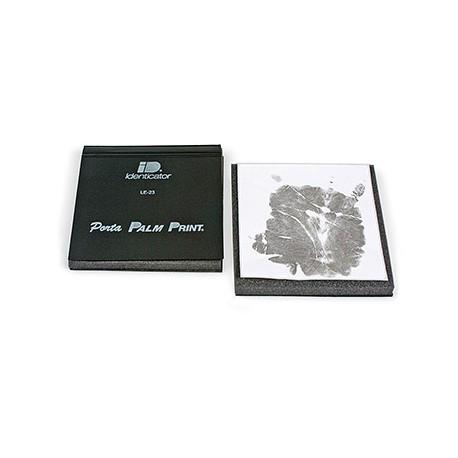Identicator® Porta Palm Print® Handflächenabdruck-Kissen, schwarz 15 x 15 cm