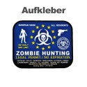 "Aufkleber ""Zombie-Hunting""  (75 x 60 mm)"