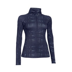 Under Armour® Ladies Stehkragenshirt Cozy Printed 1/2 Zip ColdGear®