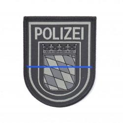 Klettabzeichen Polizei -BAYERN -BLUE LINE - Textil (92 x 75 mm)