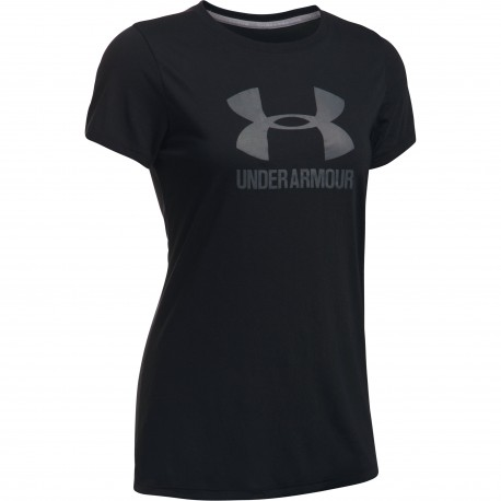 "Under Armour® Ladies T-Shirt ""Sport Style Crew"" Threadborne(TM) HeatGear®, loose"