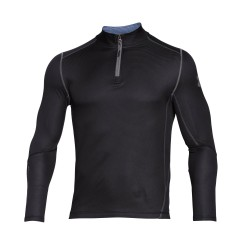 "Under Armour® Stehkragen-Shirt 1/4 Zip ""Grid"" Infrared, ColdGear®"