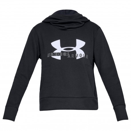 Under Armour® Womens Cotton Fleece Sportstyle Logo Hoodie, loose