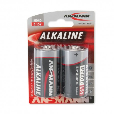 ANSMANN® Mono D-Cell Alkaline Batterie (2er Pack)