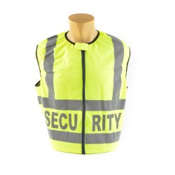 Warnweste NEUTRAL, Reflexstreifen silber, Aufdruck wählbar, inkl. Tasche