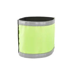 Armbinde mit Reflexstreifen (neon-gelb), unbedruckt