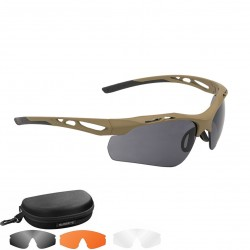 SWISS EYE® tact. Glasses Attac incl. Lenses orange clear and smoke