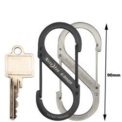 NiteIze(TM) Carabiner hook  S-Biner Stainless Steel size  4