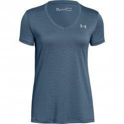 Under Armour® Damen T-Shirt  Tech SSV- Ticker HeatGear®, Fitted