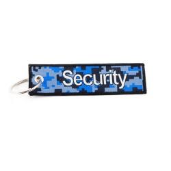 Anhänger Security mit Schlüsselring, Textil (125 x 35 mm)
