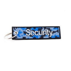 Key Holder SECURITY with ring, textile (125 x 35 mm)