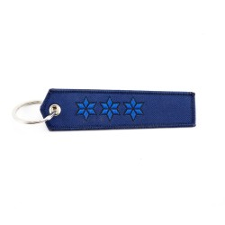 Key Holder police-rank with ring, textile (120 x 30 mm)