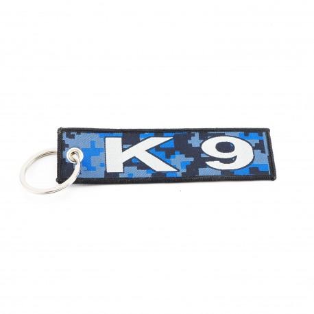 Anhänger K9 mit Schlüsselring, Textil (125 x 35 mm)