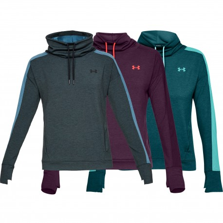 """Under Armour® Womens Fleece Funnel Collar Pullover """"Featherweight"""" loose"""