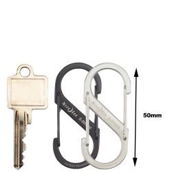 NiteIze(TM) Carabiner hook  S-Biner Stainless Steel size  3