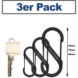 NiteIze(TM) Carabiner hook  S-Biner Set Size 2,3,4