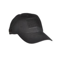 COP® Cap, plain black w. loop patches