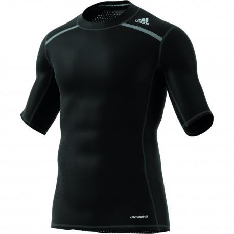 "adidas® Mens T-Shirt ""TECHFIT CHILL"", climachill(TM), compression"