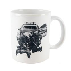 COP® Kaffeetasse mit Motiv Festnahme 0,3 Liter