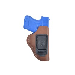 BIANCHI® 6 Open Top Inside Waistband Holster, suede leasther (brown)