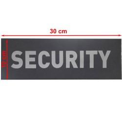 "Inscription, reflective, civil,  ""SECURITY"" on hook fastener pad"