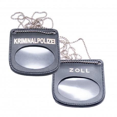 COP® Marken-Halter BEHÖRDE, oval, Leder
