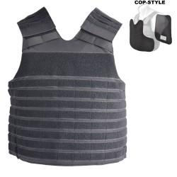 COP® Taktische Molle - Weste COP-STYLE verwendbar mit oder ohne Ballistik